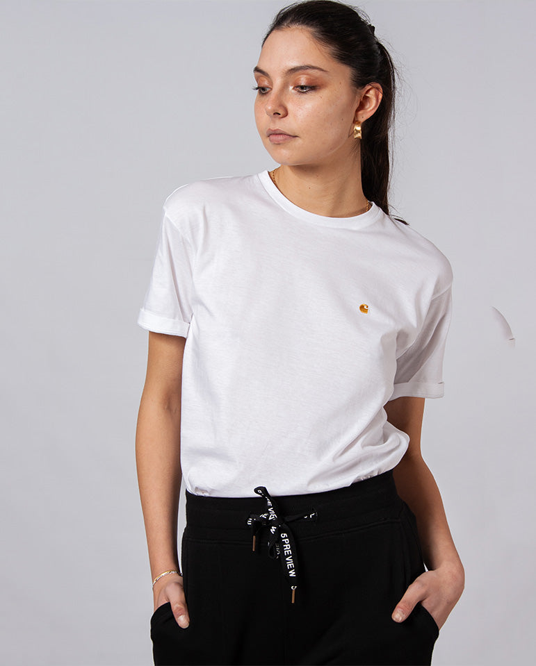 Chase T-Shirt White/Gold