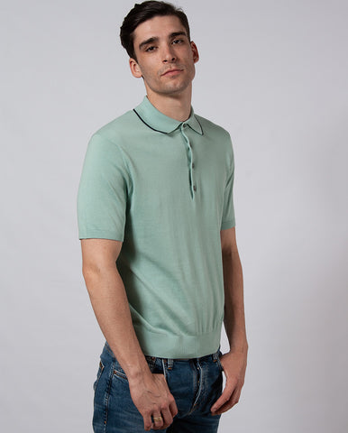 Tipped Knitted Polo GREEN
