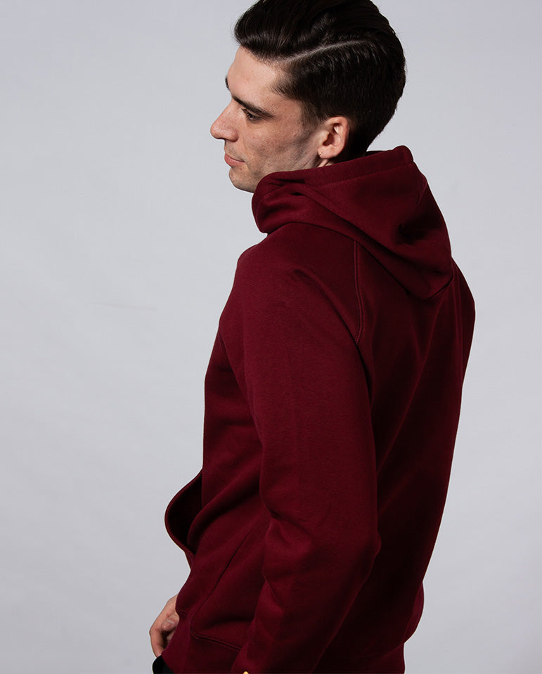 Hooded Chase Sweat Cranberry