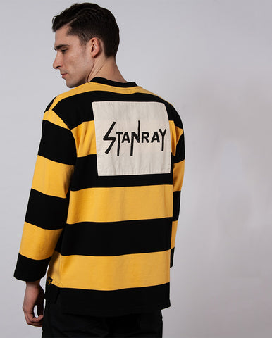 L/S Football Tee Black/Yellow