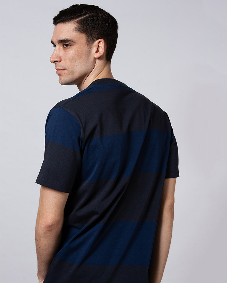 Johannes Block Stripe Tee Dark Navy