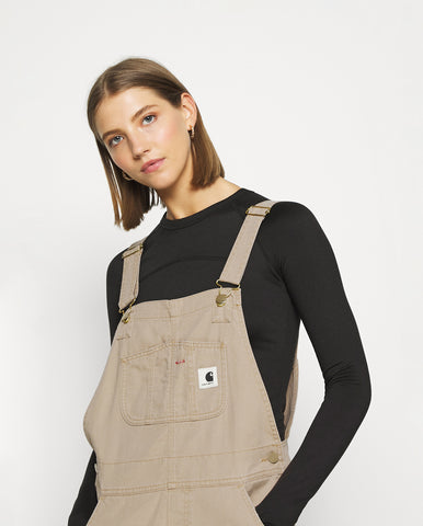 W Bib Overall Dusty Brown