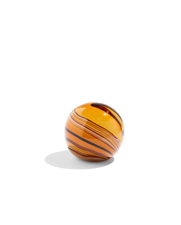 Glass Paperweight - Amber