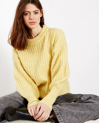 Alpia Ribbed Knit Soft Yellow