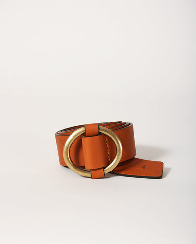 Tisao Leather Belt Golden Brown