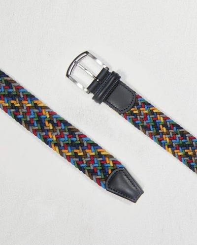 Woven belt - Multi Colour - Dark