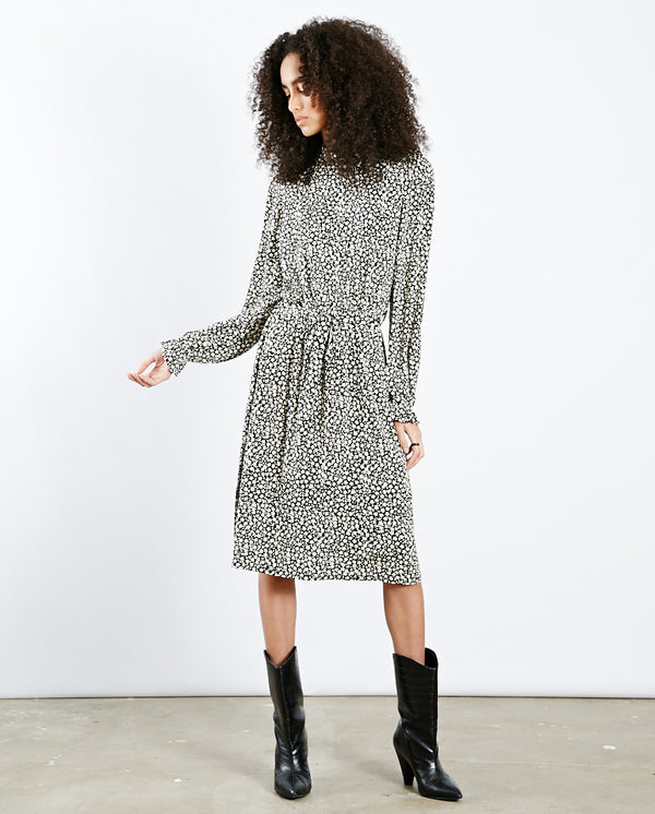 Billy Printed Dress Black/Cream Print