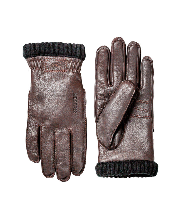 Deerskin Primaloft Glove DARK BROWN