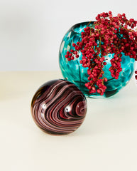Glass Paperweight - Purple