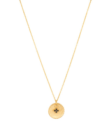 Disc And Cross Necklace GOLD