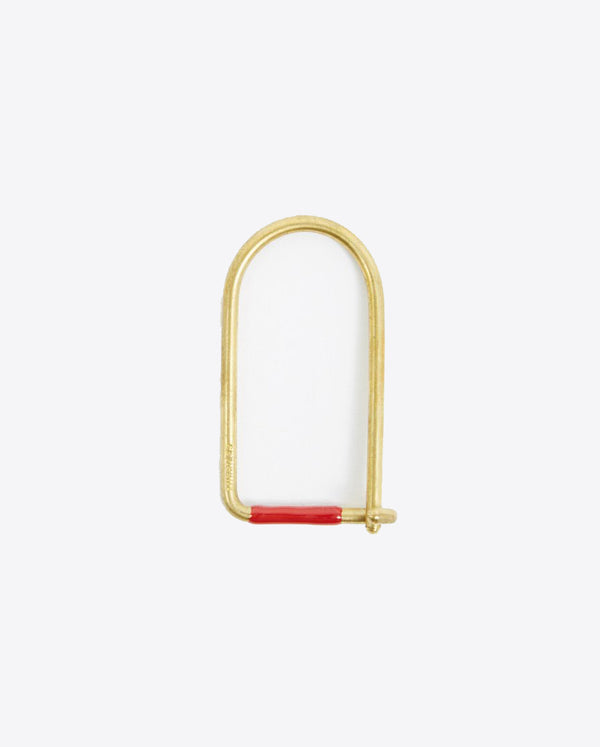 Wilson Enameled Keyring - Brass/Red