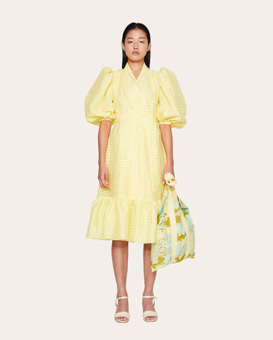 Chinie Gingham Wrap Dress Marigold