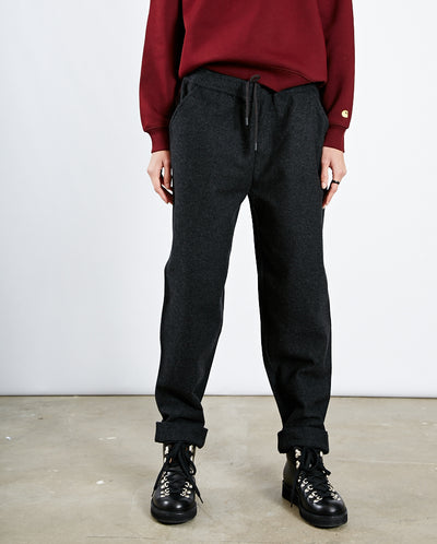 Drawcord Wool Twill Pant CHARCOAL