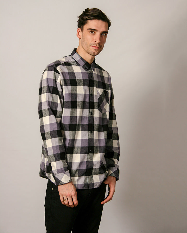 Keagan Shirt Purple Check