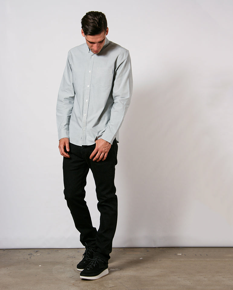 Button Down Pocket Shirt Cloud Grey