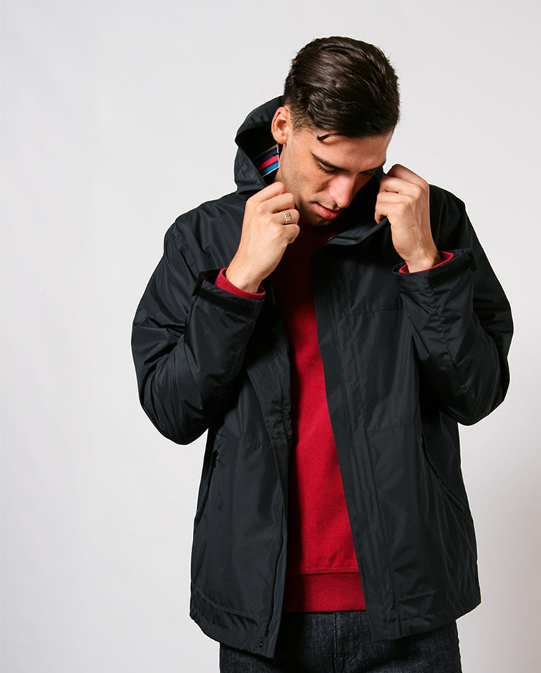Taped Rain Jacket BLACK