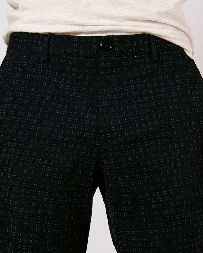 Patterned Tailored Trouser NAVY