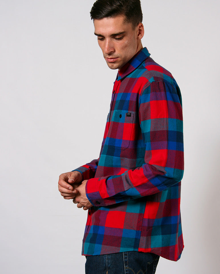 Heavy Labour Shirt Red/Blue