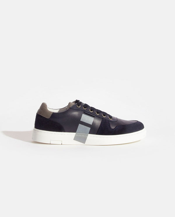 Grayson Navy Trainer Navy/White