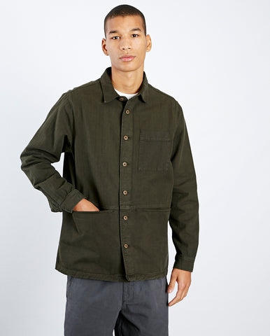 Rosyth Shirt Jacket Dark Olive