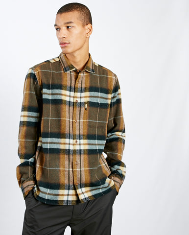 Curtis Check shirt OLIVE