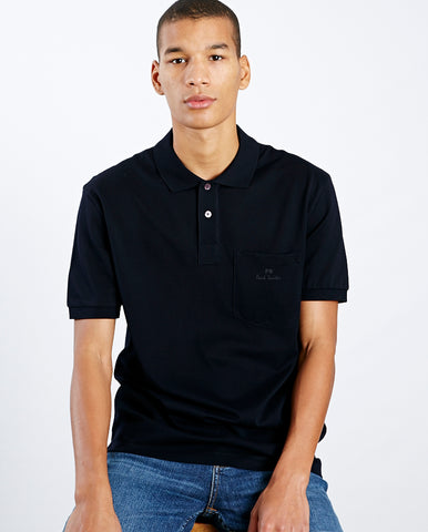 Logo Pocket Polo Dark Navy