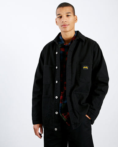 Lined Barn Coat Washed Black