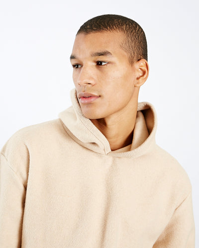 Matias Hoodie Light Brown Fleece