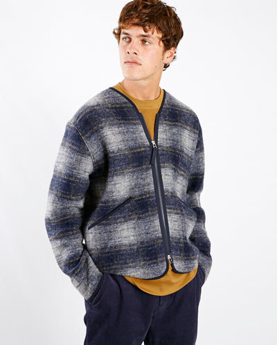 Austin Wool Liner Navy Check