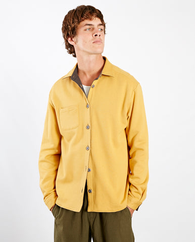 Flannel Reversible Overshirt Graphite/Yellow