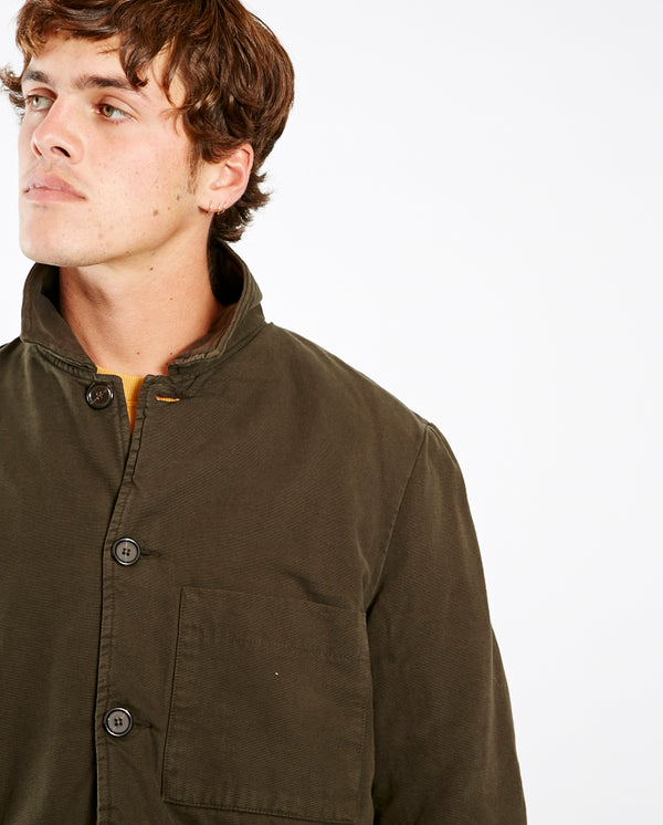 Quilted Bakers Jacket OLIVE