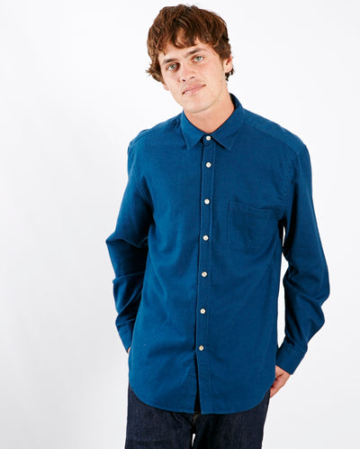 Teca Flannel Shirt French Blue