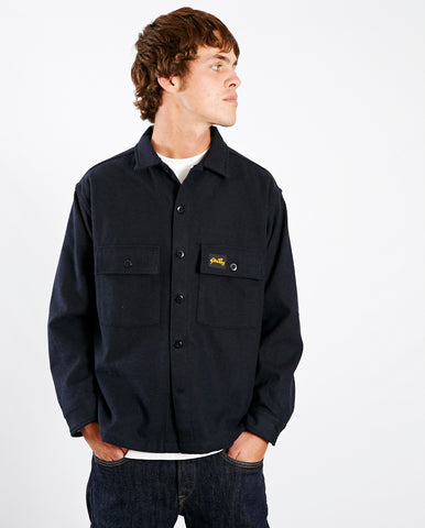 Wool CPO Shirt NAVY