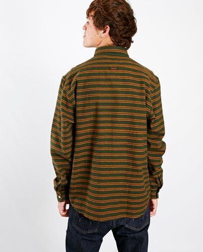 Larry Streamer Shirt Green Stripe