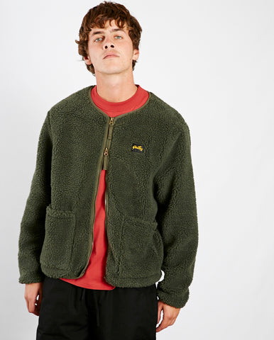 Fleece Layer Cardi OLIVE