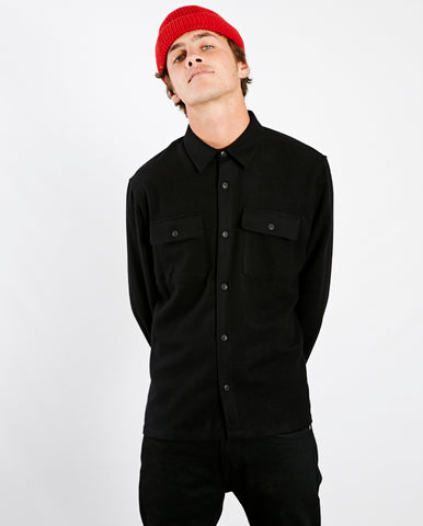 Sten Wool Shirt BLACK