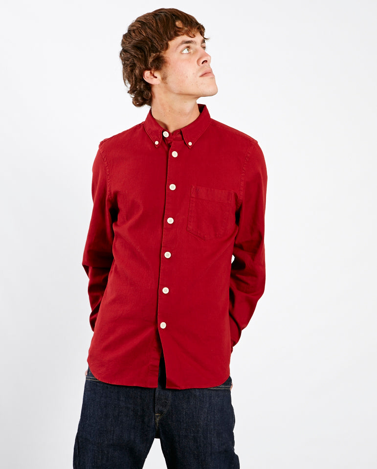 Button Down Tailored Shirt Blood Red
