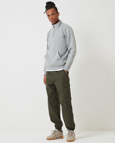 Chase Neck Zip Sweat GREY HEATHER