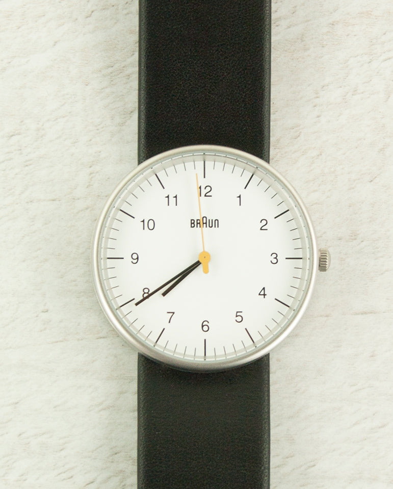 Braun Watch White Dial Black Strap