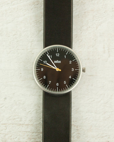 Braun Watch Black Dial Black Strap