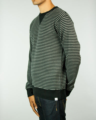 Striped Waffle Knit Grey/Black