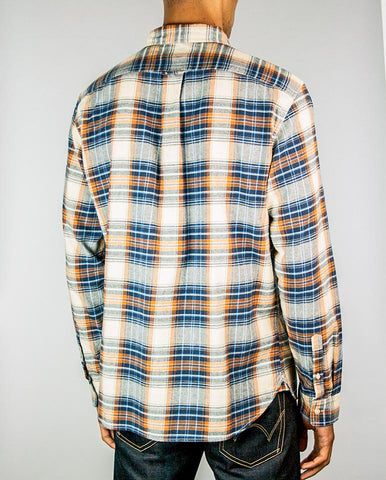 Triple Check Shirt Blue/Rust
