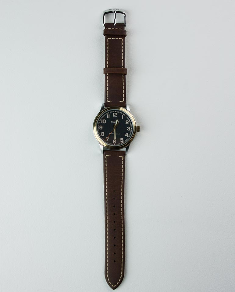 New England Watch Black/Brown