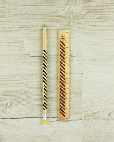 Papier Tigre ruler and pencil set