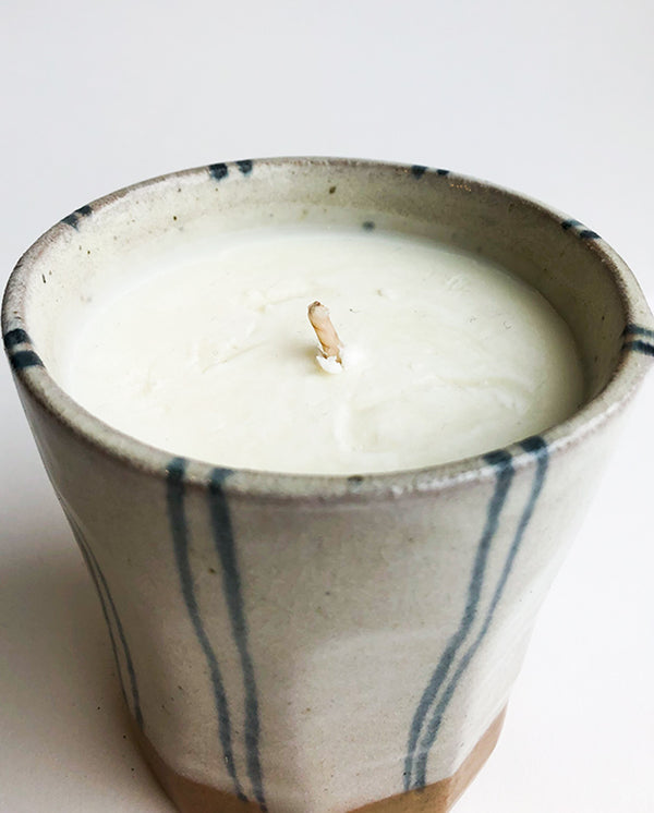 Japanese Ama Stripe Candle