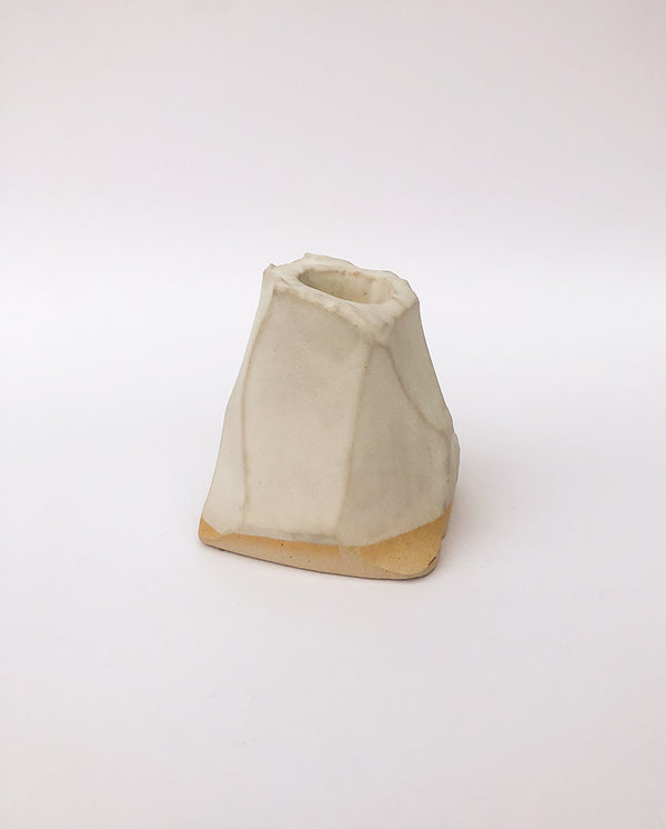 Rock Candle Holder WHITE