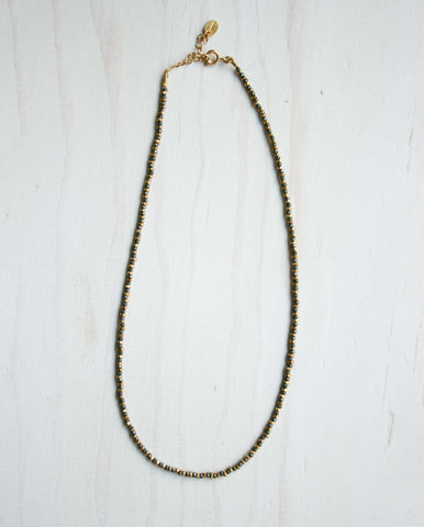 Jaipur Pyrite Necklace Gold/Pyrite