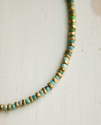 Jaipur Turquoise Necklace Gold /Turq