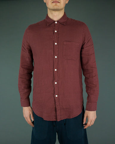 Linen Shirt Bordeaux