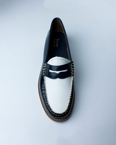 Penny Loafer Navy/White
